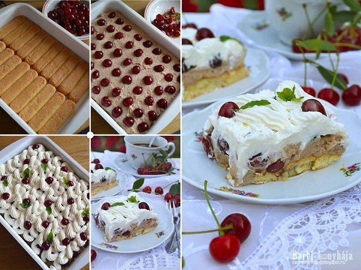 Sütés nélkül! Gesztenyés meggyes kocka, de lehet rumos cukros lében felforralt cseresznyével is készíteni! Isteni! - MindenegybenBlog