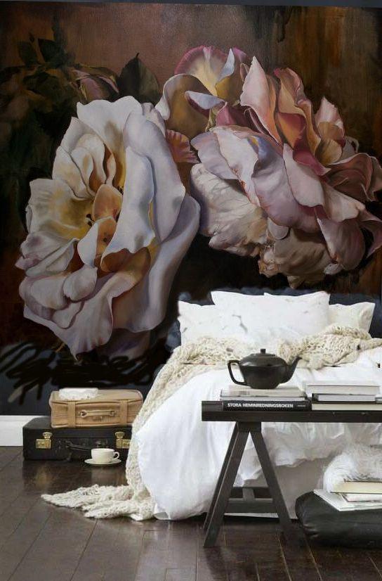 As belíssimas pinturas florais da artista australiana, que antes só podiam ser vistas em galerias de arte, agora podem ser compradas como papel de parede.