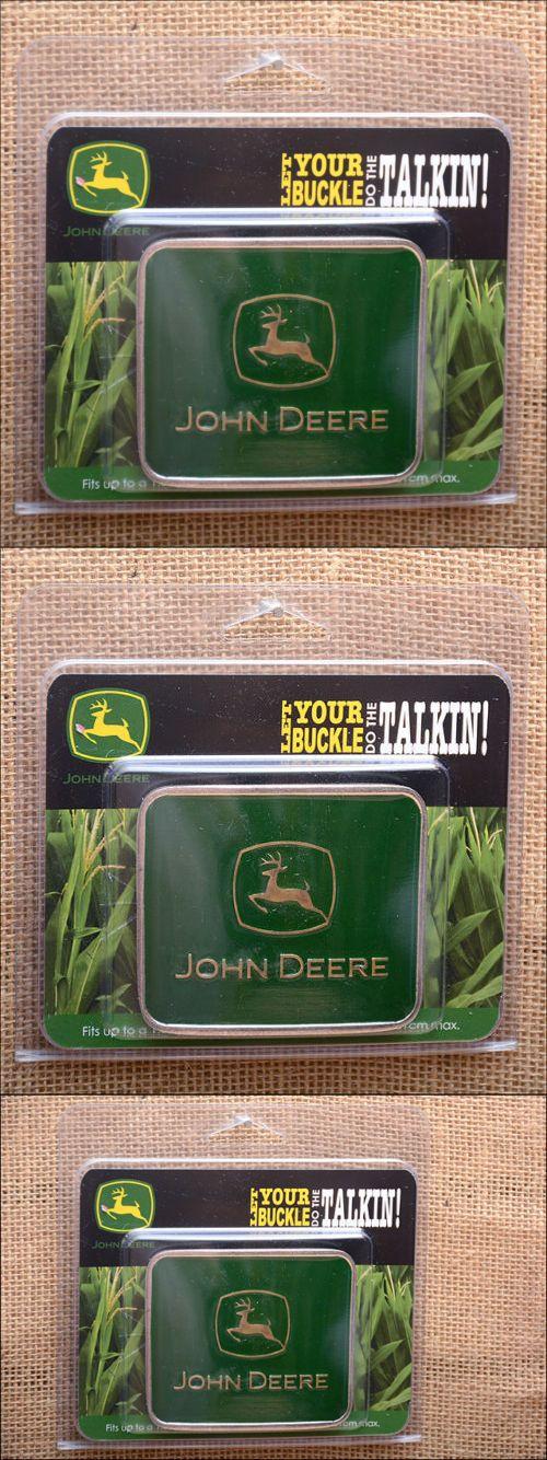 Belt Buckles 163542: John Deere Green Medium Square Silver Toned Frame Attitude Belt Buckle -> BUY IT NOW ONLY: $37.95 on eBay!
