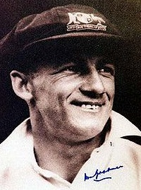 Donald George Bradman Born 27 August 1908 Cootamundra, New South Wales, Australia Died 25 February 2001 (aged 92) South Australia, Nickname The Don Batting style Right-handed Bowling style Right-arm leg break acknowledged as the greatest batsman of all time. Bradman's career Test batting average of 99.94 is often cited as statistically the greatest achievement by any sportsman in any major sport Bradman practised alone with a cricket stump and a golf ball is part of Australian folklore