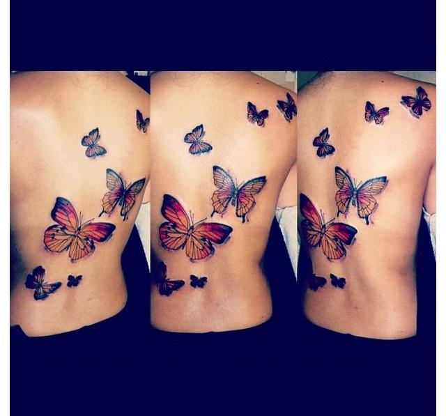 Butterfly back tattoo. Luv this. #tattoo #inkedgirls