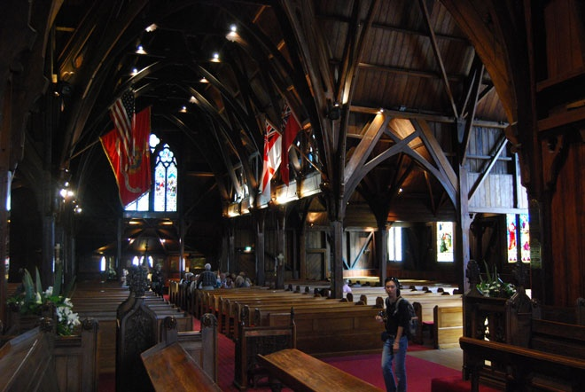 Old St Paul's, Wellington, New Zealand - a few family marriages here in the early days.  Beautiful church.  Photo from a very interesting travel blog with emphasis on architecture.
