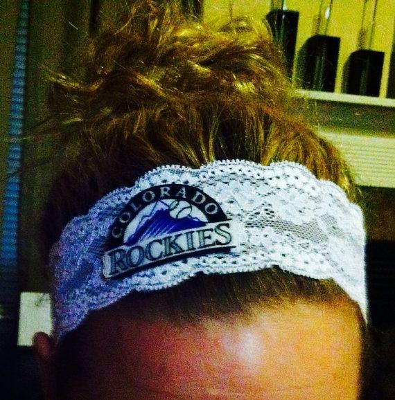 MLB Team / Colorado Rockies Elastic Lace Headband by HomerunHottie, $12.00