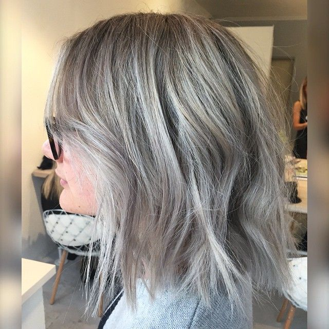 Silver blonde.                                                                                                                                                      More