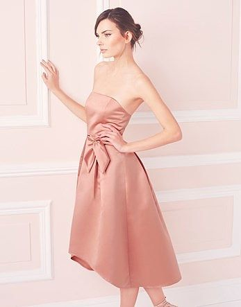 Womens pink beige true decadence bow detail prom dress from Lipsy - £45 at ClothingByColour.com