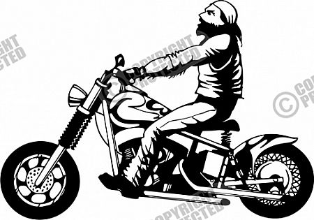 Free Sample Motorcycle Illustrative Style Vector Clipart Download