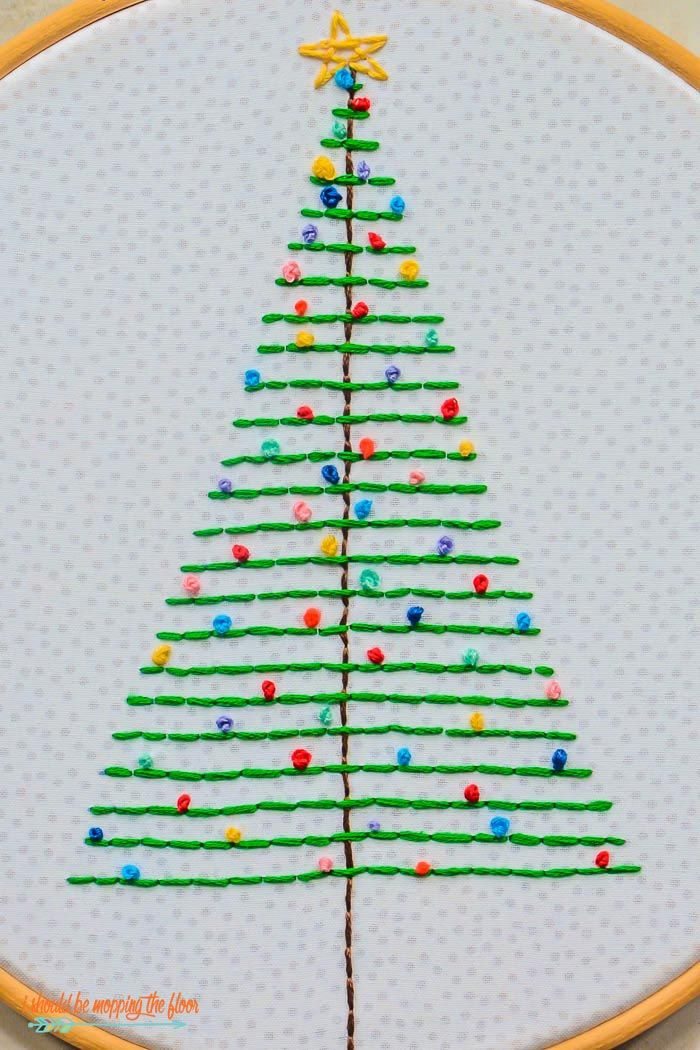 Embroider A Christmas Tree Hand Embroidery Patterns Embroidery Patterns Free Embroidery Designs