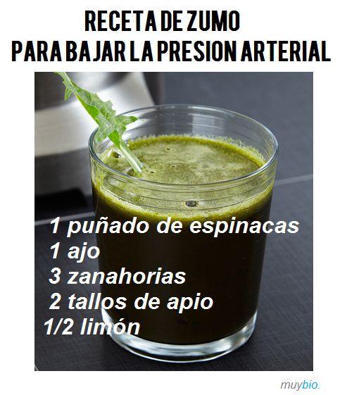 Remedio natural para bajar la PRESIÓN ARTERIAL: receta de zumo de verduras