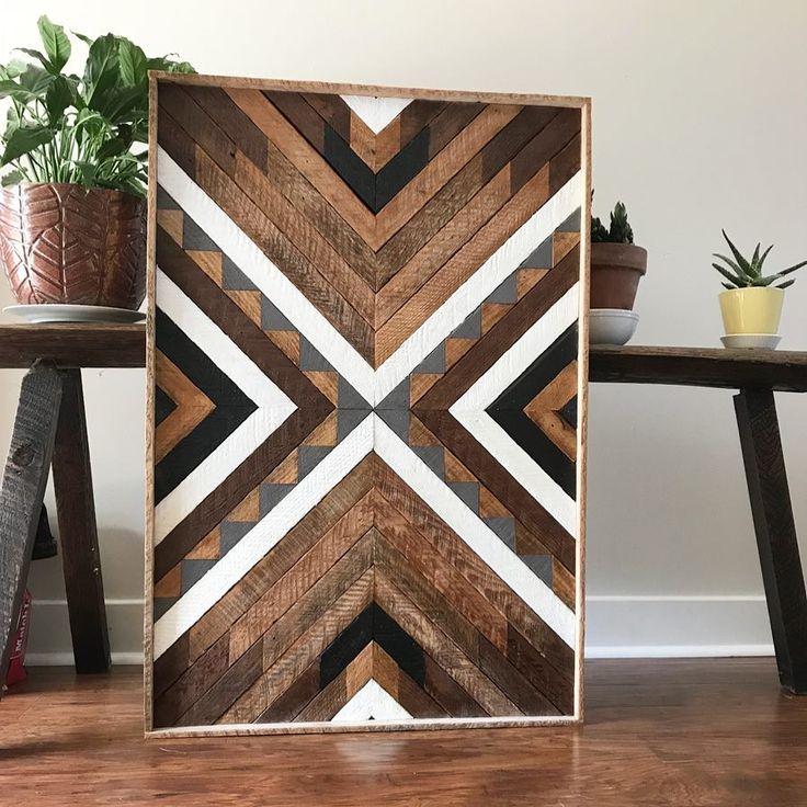 Wood Wall Art - Wood Art - Reclaimed Wood Art - Hanging Plant - Plant Hanger