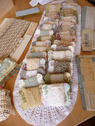 old lace trims....need to make some cards like this for my lace