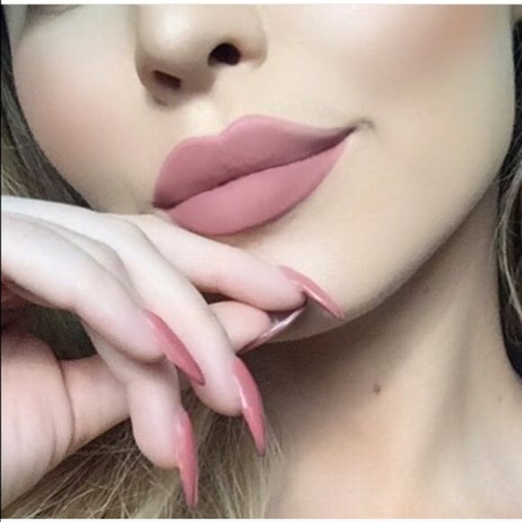 """New NYX Lip Lingerie Liquid Lipstick """"Push Up"""" Brand new never worn liquid lipstick in the color """"push up"""". First pic is """"get the look"""" with this sexy nude liquid lipstick with matte finish. Swatch on last page. Price firm✅ NYX Makeup Lipstick"""