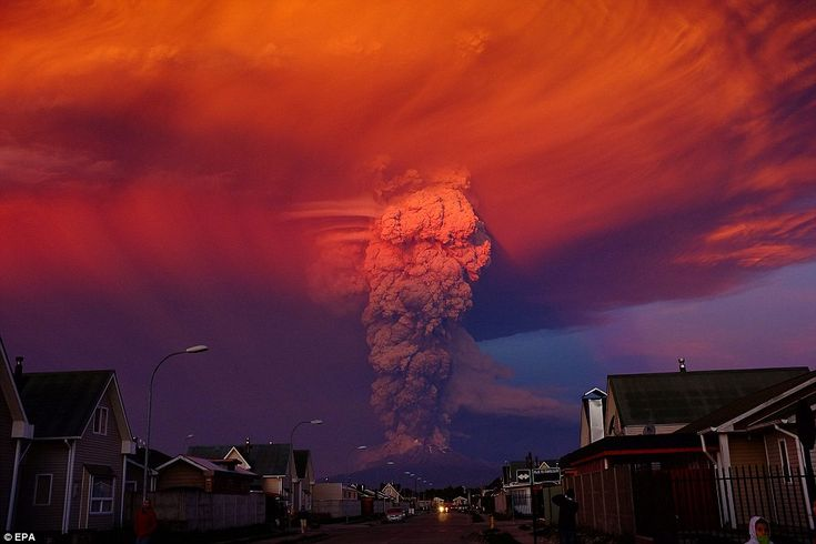 Residents of Puerto Montt in Chile witness volcano Cabulco erupts for first time in 40 years and sends huge plume of ash into the sky.