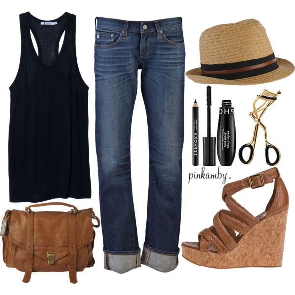 casual: Summer Casual, Summer Outfit, Relaxed Jean, Casual Summer, Goldschmied Tomboy, Summer Style, Tomboy Jean, Goldshmied Tomboy, Polyvore Fashion