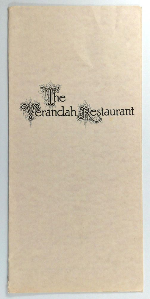 1978 Vintage Menu Walt Disney World VERANDAH RESTAURANT Lake Buena Vista Florida