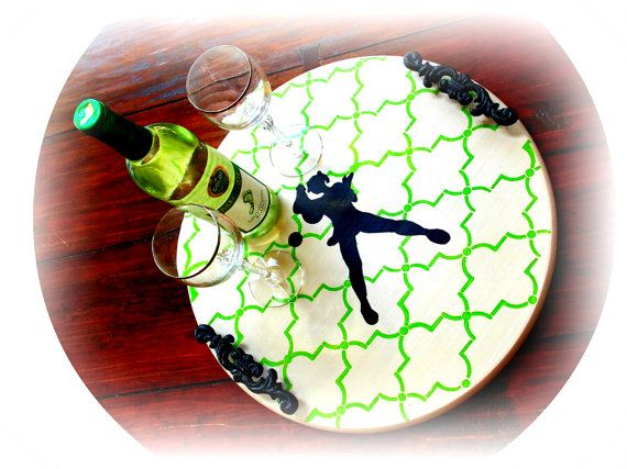 Tennis Gifts Womens Tennis Gifts Platter Tray by AbodeDecorGifts