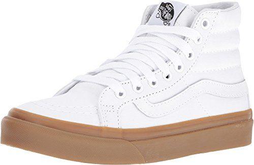Vans - Unisex-Adult SK8-Hi Slim Shoes, Size: 6 D(M) US Mens / 7.5 B(M) US Womens, Color: (Light Gum) True White
