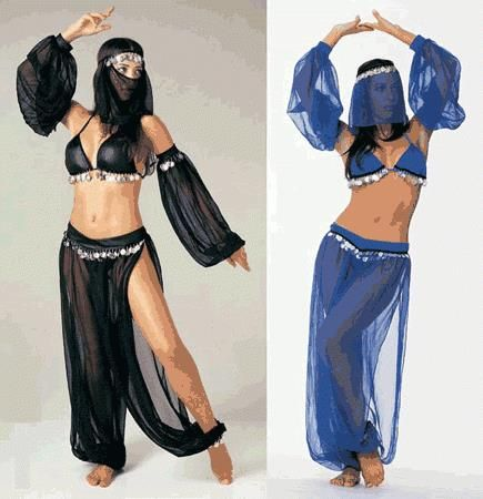 Расчет ткани на турецкие и ливанские брюки для танца живота