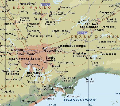awesome Sao Paulo Map
