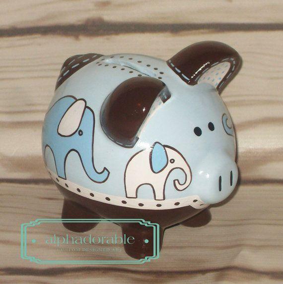 17 best images about alcancias on pinterest superhero logos cute piggies and hand painted - Ceramic elephant piggy bank ...