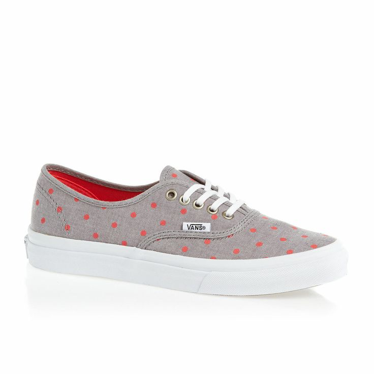 Vans Authentic Slim Shoes - Grey/Hot Coral | Free UK Delivery