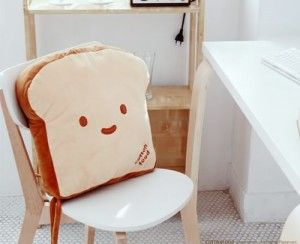 Cojín rodaja de pan