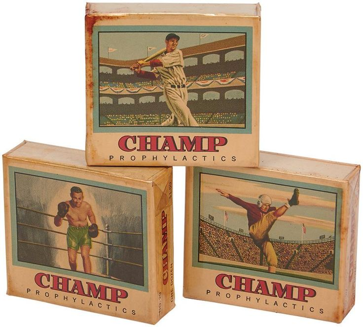 Vintage condoms with Ted Williams and Jack Dempsey on the box cover: http://bit.ly/1xLF2FL