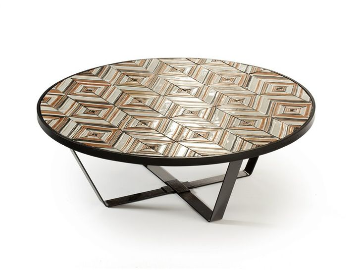 Round ceramic coffee table CALDAS by Mambo Unlimited Ideas | design Claudia Melo
