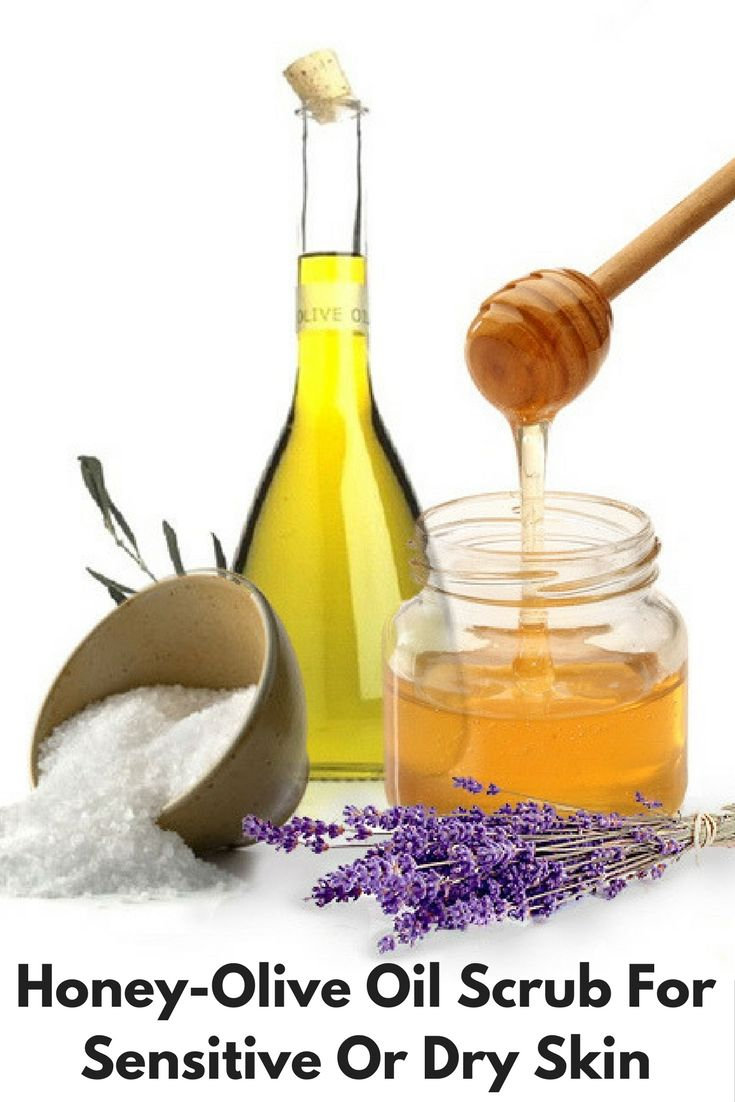 Honey-Olive Oil Scrub For Sensitive Or Dry Skin  Using this scrub is great for sensitive/dry skins, since the olive oil is...