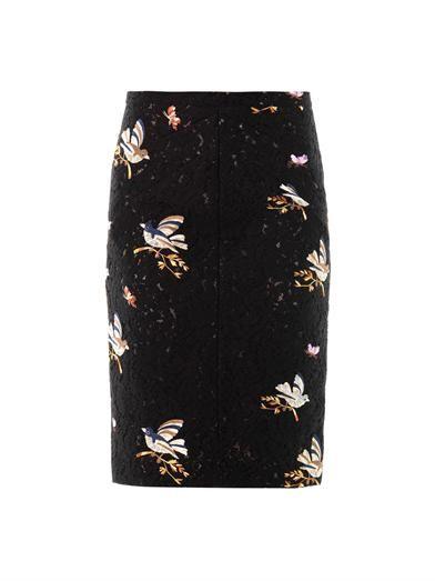 Bird embroidered lace skirt   No. 21   MATCHESFASHION.COM