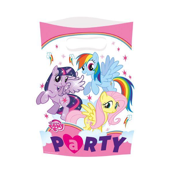Doğum Günü Little Pony Rainbow Parti Çantası  Paket içerisinde Doğum günü partileriniz için birinci kalite, 23 cm x 16 cm ebatlarında 6 adet  temalı parti çantası bulunmaktadır.