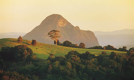 Mt Tibrogargan, Sunshine Coast, Queensland .. one of my very favourite places on earth.  Here's a link to the Aboriginal legend of Tibrogargan .. http://www.australiaforeveryone.com.au/places_glasshouse.htm