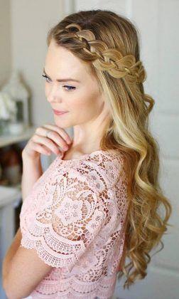 Long Wedding & Prom Hairstyles via Missysueblog