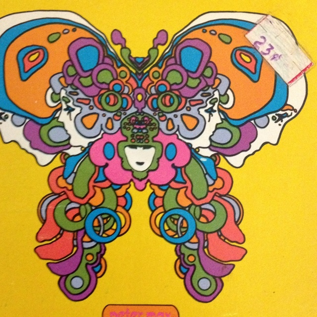 Peter Max art was popular in the early 70's. I had Peter Max sheets & pillow cases; if I could only remember where I put them...  ;)