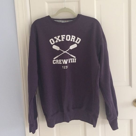 Purple Oxford University Sweatshirt Small ding on the R and Oar! From Oxford University in England, super soft! No trades! make an offer! Tops Sweatshirts & Hoodies