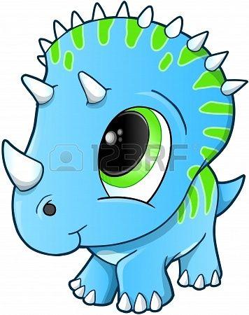 Cute Baby Triceratops Dinosaurus Illustratie Stockfoto - 17223378