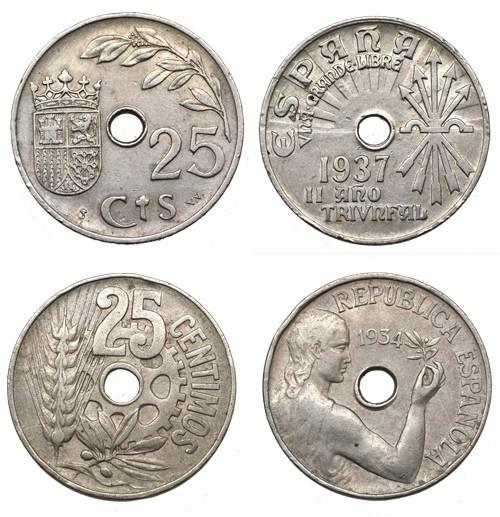 25 cts, Guerra civil española #monedas