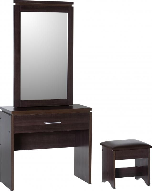 Charles 1 Drawer Dressing Table Set in Walnut Effect #DressingTables #DressingTables #Dressing