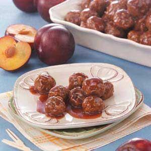 Meatballs in Plum Sauce http://www.tasteofhome.com/