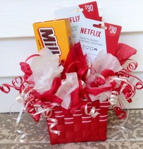 NetFlix Gift Basket-made with dollar store materials