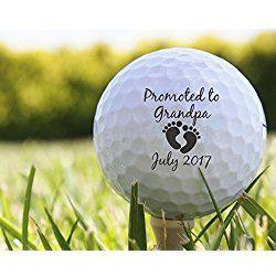 Pregnancy Reveal Personalized Golf Balls, Custom Golf Ball Birth Announcement for Grandparents, - S09