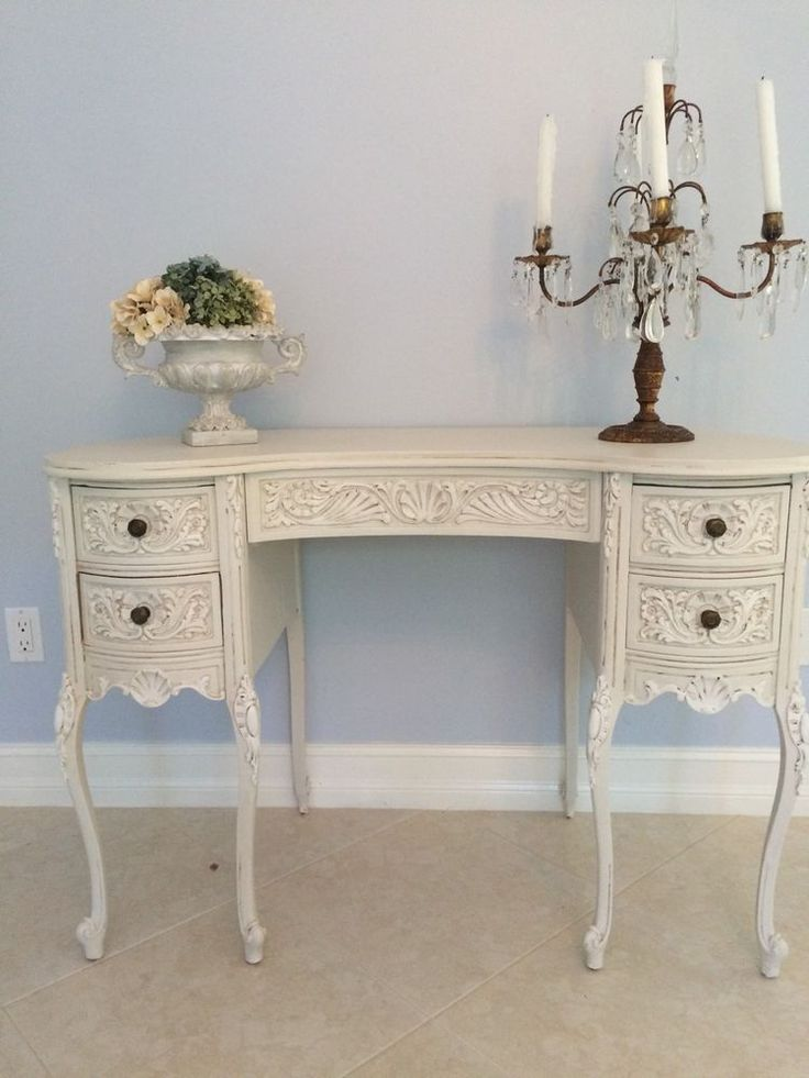 Antique French Vanity Desk Refinished Kidney Shaped Louis XV PRETTY - 11 Best French Provincial Kidney Shaped Vanity/Desk ~ Images On