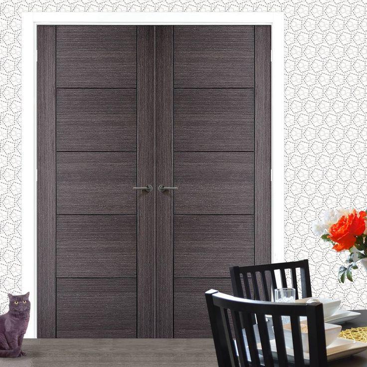 Vancouver Ash Grey Internal Door Pair. #internaldoors #moderndoors #contemporarydoors