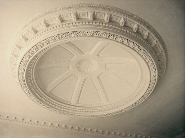 Ceiling moulding.