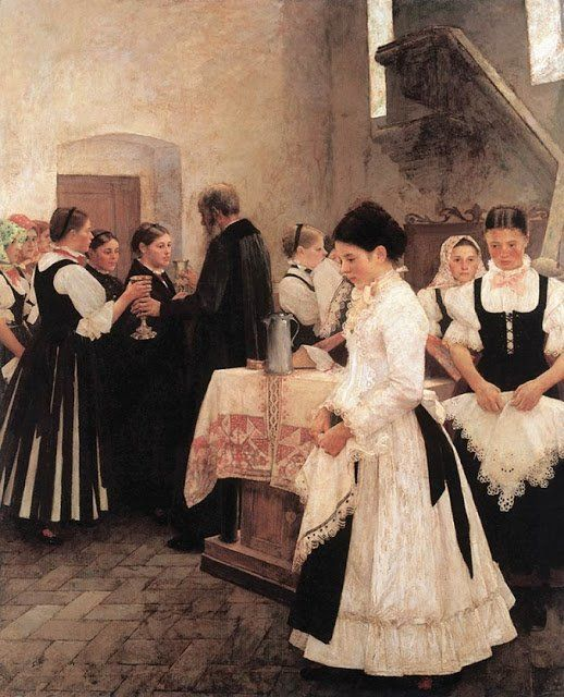 Holy Communion, 1890  István Csók (Hungarian, 1865-1961)