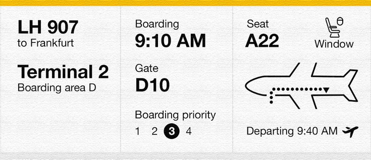 The 3rd edition of a boarding pass usability redesign