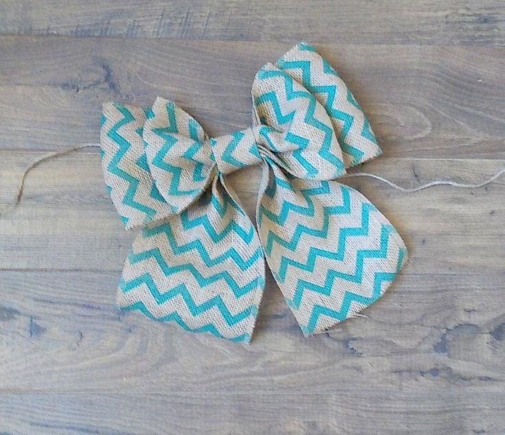 "Excited to share the latest addition to my #etsy shop: 11"" Turquoise Chevron Burlap Bow, Burlap Wreath,Home decor, Weddings, Special Occasions,Farmhouse https://www.etsy.com/shop/MyCreationsbyCassie #weddings #decoration #largeburlapbow #homedecor #bowforwreath"