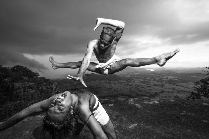 Fighters demonstrate the fighting style of Angam, a form of hand-to-hand combat. © Reza Akram 2013