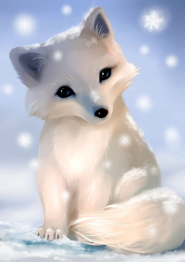 Image result for arctic fox Cute fox drawing Cute animals Cute animal drawings
