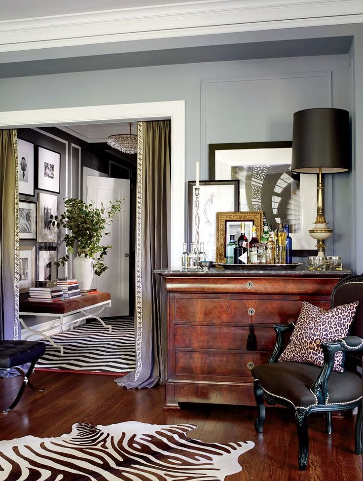 Traditional Living Room by David Jimenez in Kansas City, Missouri | grey walls, bench
