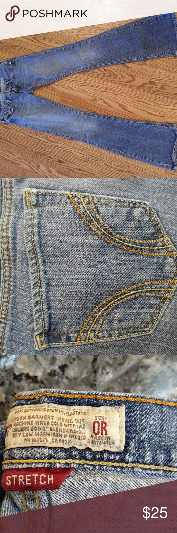 Hollister Boot Cut Jeans Size 0R, stretch. Super comfy! Barely worn, perfect condition Hollister Jeans Boot Cut